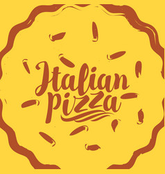 banner with yellow pizza and inscription vector image