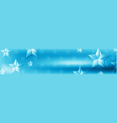 blue web header design with glossy stars vector image