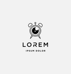 camera timer logo template design icon vector image