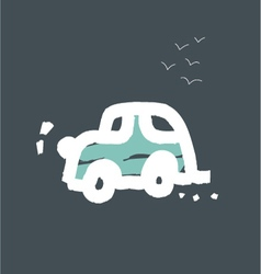 Car cards for children vector