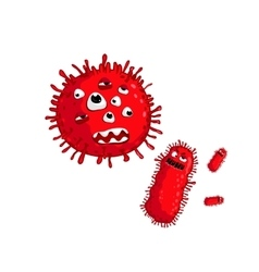 Cartoon virus character isolated vector