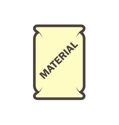 Cement bag icon vector