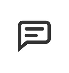 chat speech bubble and dialog balloon line style vector image