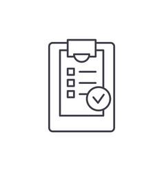 checklist line icon concept checklist vector image