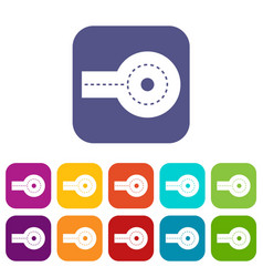 Circular impasse icons set flat vector