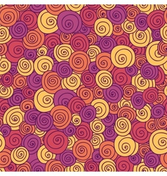 Color curls seamless pattern vector image