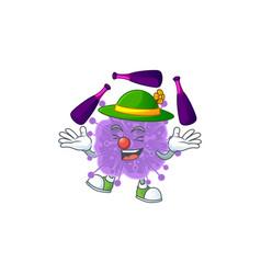 Coronavirus influenza cartoon playing juggling vector
