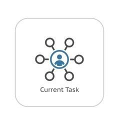 Current Tasks Icon Business Concept Flat Design vector image