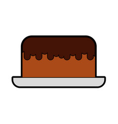 cute cake cartoon vector image