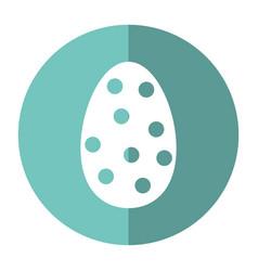 Decorative egg easter polka dots shadow vector