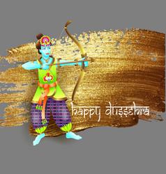 Design krishna shoots an arrow from a bow vector