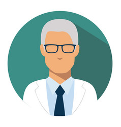 doctor web icon head physician avatar vector image