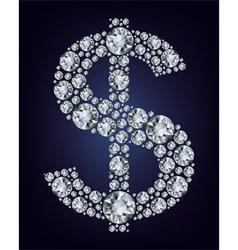 dollar symbol in diamonds vector image vector image
