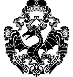 dragon arms vector image