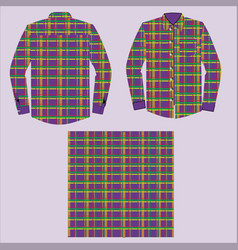 Dress shirt with check design vector