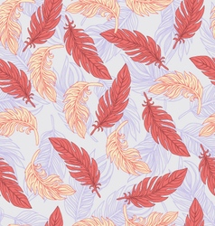 Ethnic seamless pattern with Feathers vector