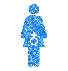 female sexual disfunction grunge icon vector image