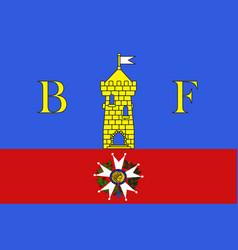 Flag of belfort in franche-comte is a region of vector