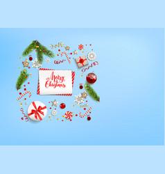 Flat lay holiday christmas vector