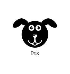 Funny dog icon silhouette icon vector