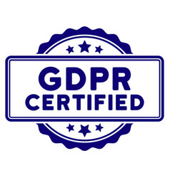 Gdpr certified seal template vector