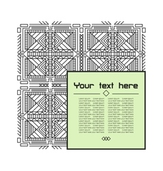 Geometric linear pattern vector image
