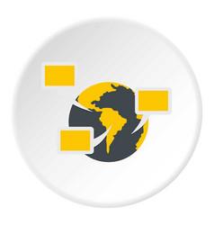 Global communication icon circle vector