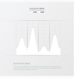 Graph and infographic design white color vector