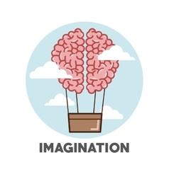 Graphic design of Imagination vector