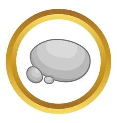 Gray stones icon vector
