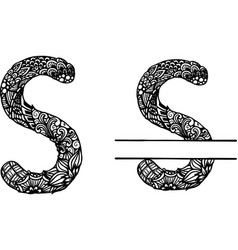 Hand drawn letter s vector