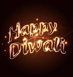 Happy diwali text vector