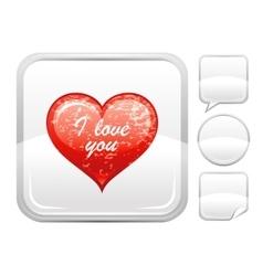 Happy Valentines day romance love heart I love vector