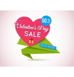 Happy Valentines Day Sale Banner Valentines Day vector image