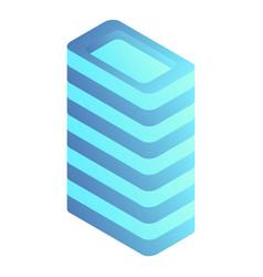 intelligent building icon isometric style vector image