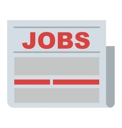 Job search icon vector