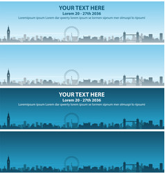 london skyline event banner vector image