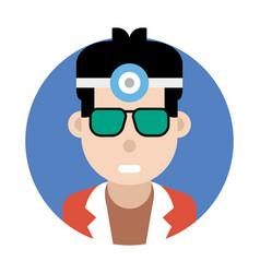 Male adventurer avatar vector