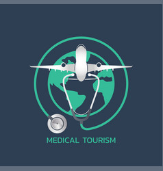 medical tourism icon design infographic health vector image