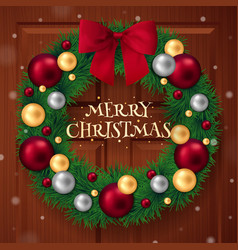 merry christmas ring background vector image