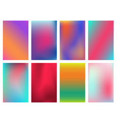 Minimal bright vivid gradient covers design vector