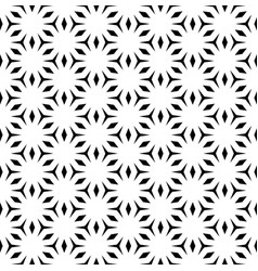 Monochrome seamless pattern with polygons vector