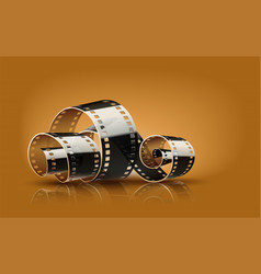 Movie cinema film reel vector