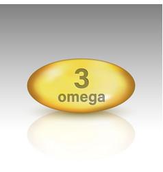 Omega 3 vitamin drop pill vector