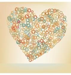 Orabge love hearts EPS 8 vector