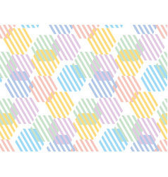 pale color hexagon pattern seamless pattern vector image
