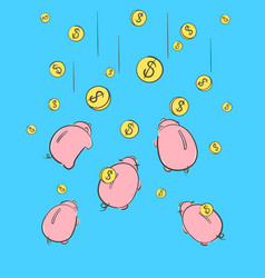 piggy bank icon a saving or investment plan vector image
