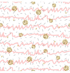 pink and white ruffle stripe seamless pattern with vector image
