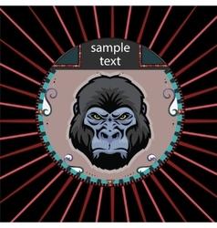 Portrait of a orangutan vector