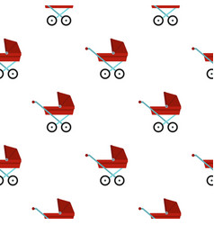 pram baby carriage pattern flat vector image